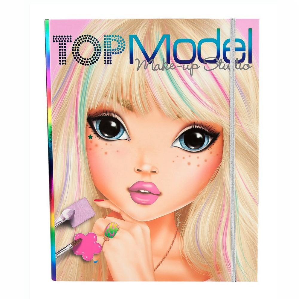 top model makeup studio folder colouring book  depesche