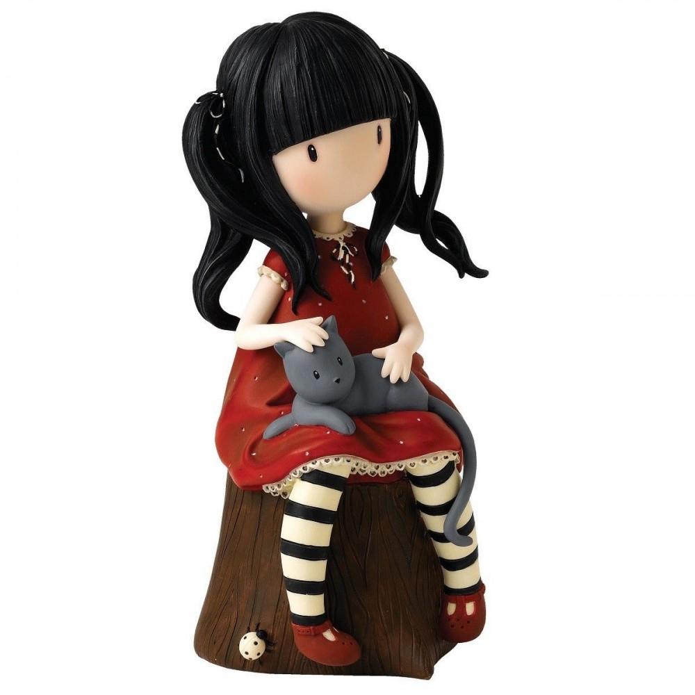 Gorjuss Ruby Money Bank Figurine Fox And Lantern