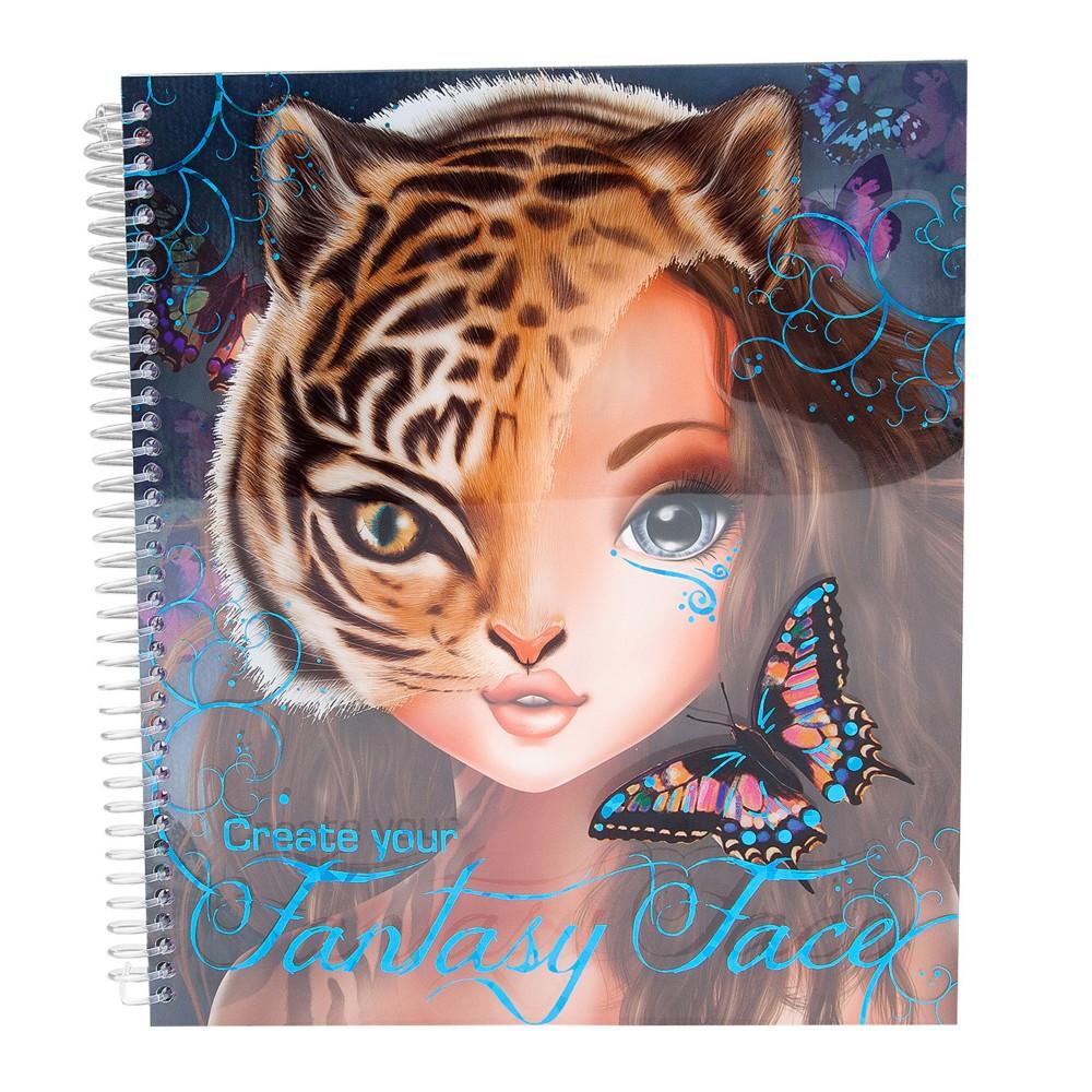 top model create your fantasy face colouring book