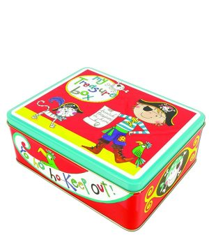 Pirate My Treasure Box Tin - Rachel Ellen Designs
