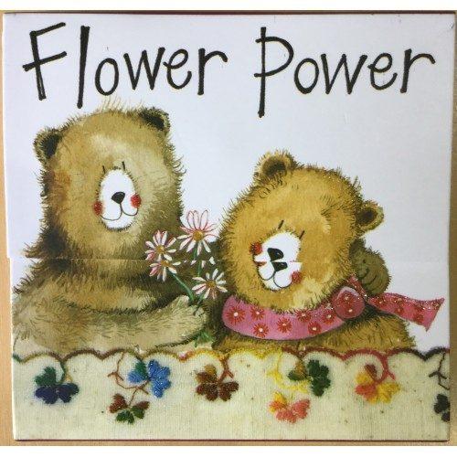 Flower Power Bears Mini Magnetic Notepad - Alex Clark Art