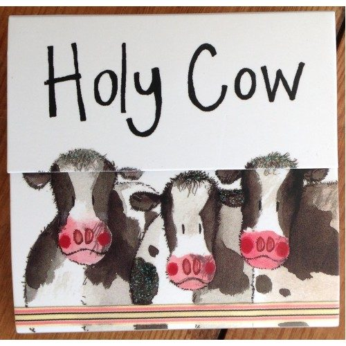 Holy Cow Magnetic Notepad - Alex Clark Art