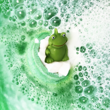 Its Not Easy Being Green Bath Bomb with Toy Frog, 160g - Bomb Cosmetics