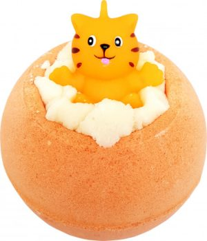 Meow For Now Bath Bomb with Toy Cat, 160g – Bomb Cosmetics