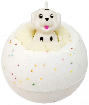 Spot On Bath Bomb with Toy Dog, 160g - Bomb Cosmetics