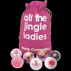 All The Jingle Ladies Gift Set Santa Sack - Bomb Cosmetics