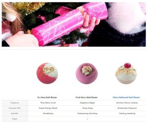 Berry Christmas Cracker Gift Pack - Bomb Cosmetics