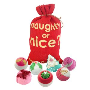 Naughty or Nice Santa Sack - Bomb Cosmetics