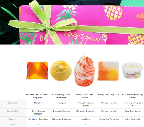 Totally Tropical Gift Pack - Bomb Cosmetics