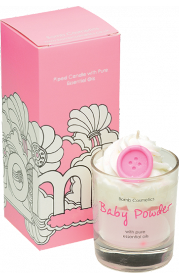 Baby Powder Piped Candle - Bomb Cosmetics