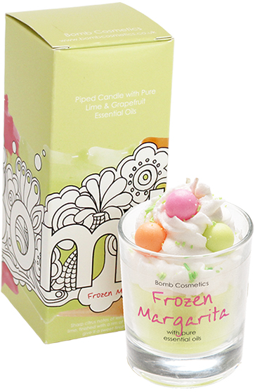 Frozen Margarita Piped Candle - Bomb Cosmetics