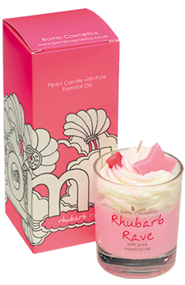 Rhubarb Rave Piped Candle - Bomb Cosmetics