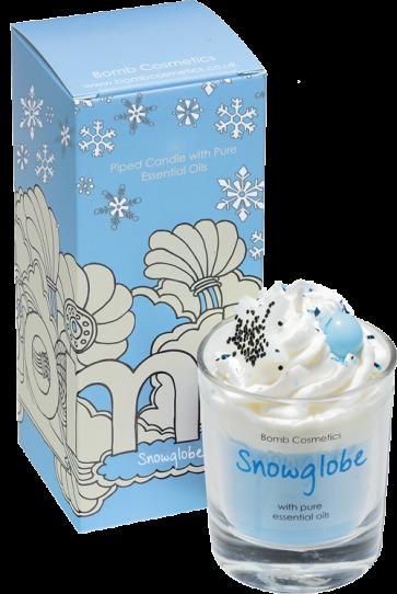 Snowglobe Piped Candle - Bomb Cosmetics