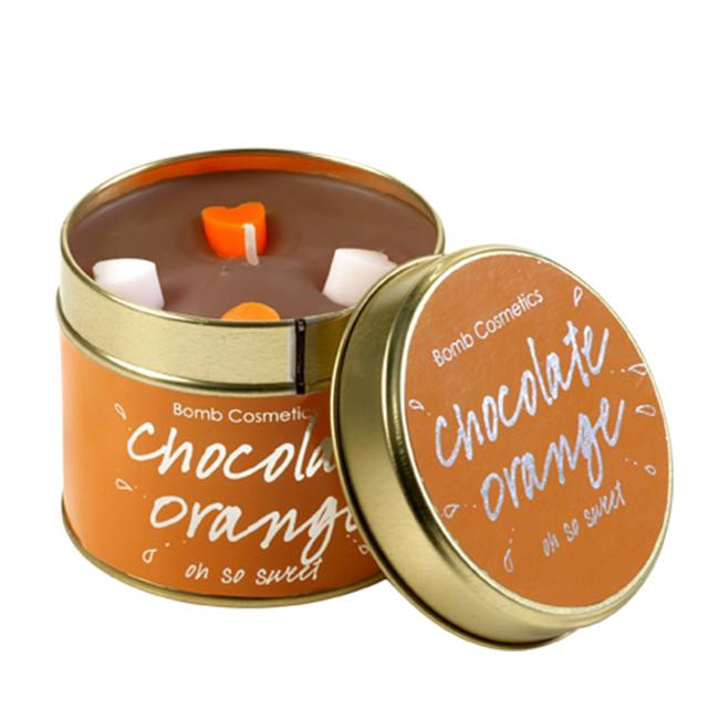 Chocolate Orange Tinned Candle - Bomb Cosmetics