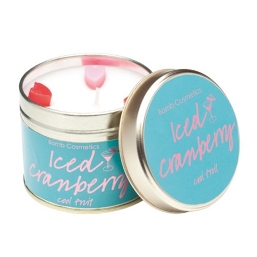 Iced Cranberry Tinned Candle - Bomb Cosmetics