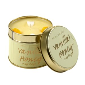 Vanilla Honey Tinned Candle - Bomb Cosmetics