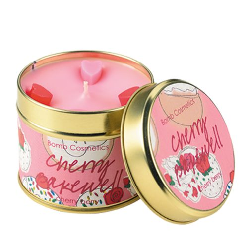 Cherry Bakewell Tinned Candle - Bomb Cosmetics