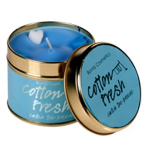 Cotton Fresh Tinned Candle - Bomb Cosmetics