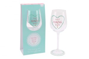 Most Amazing Mum Wine Glass