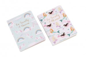 Set of 2 Mermaid and Unicorn A6 Notebooks - Cloud Nine