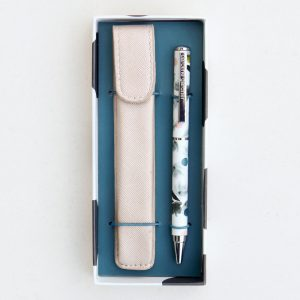Rose Tinted Pen and Metallic Pouch Gift Set - Caroline Gardner