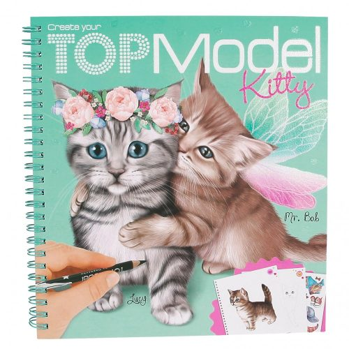 Create Your TOP Model Kitty Colouring Book - Depesche