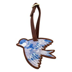 Secret Garden Bird Luggage Tag - Disaster Designs