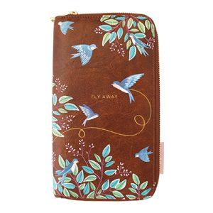 Secret Garden Bird Travel Wallet - Disaster Designs