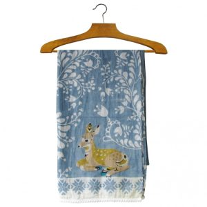 Nordikka Grey Deer Scarf - Disaster Designs