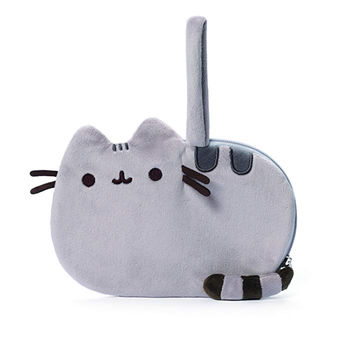 Pusheen Plush Zip-Close Wristlet Purse