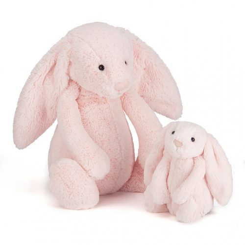 Jellycat Bashful Pink Bunny Rattle - Small 18 cm