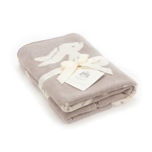 Jellycat Beige Bashful Bunny Blanket In Gift Box