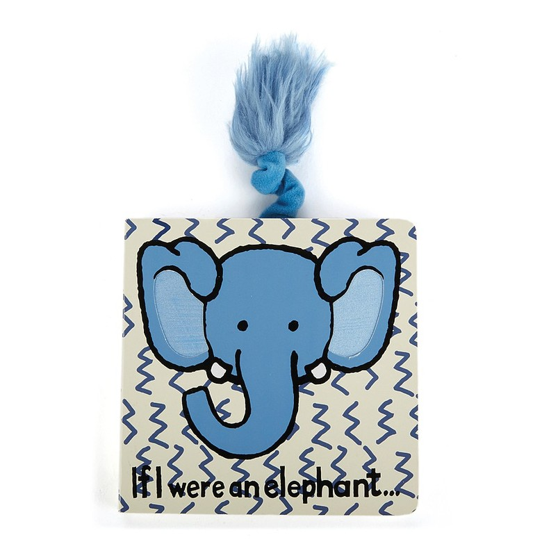 If I Were An Elephant Board Book - Jellycat