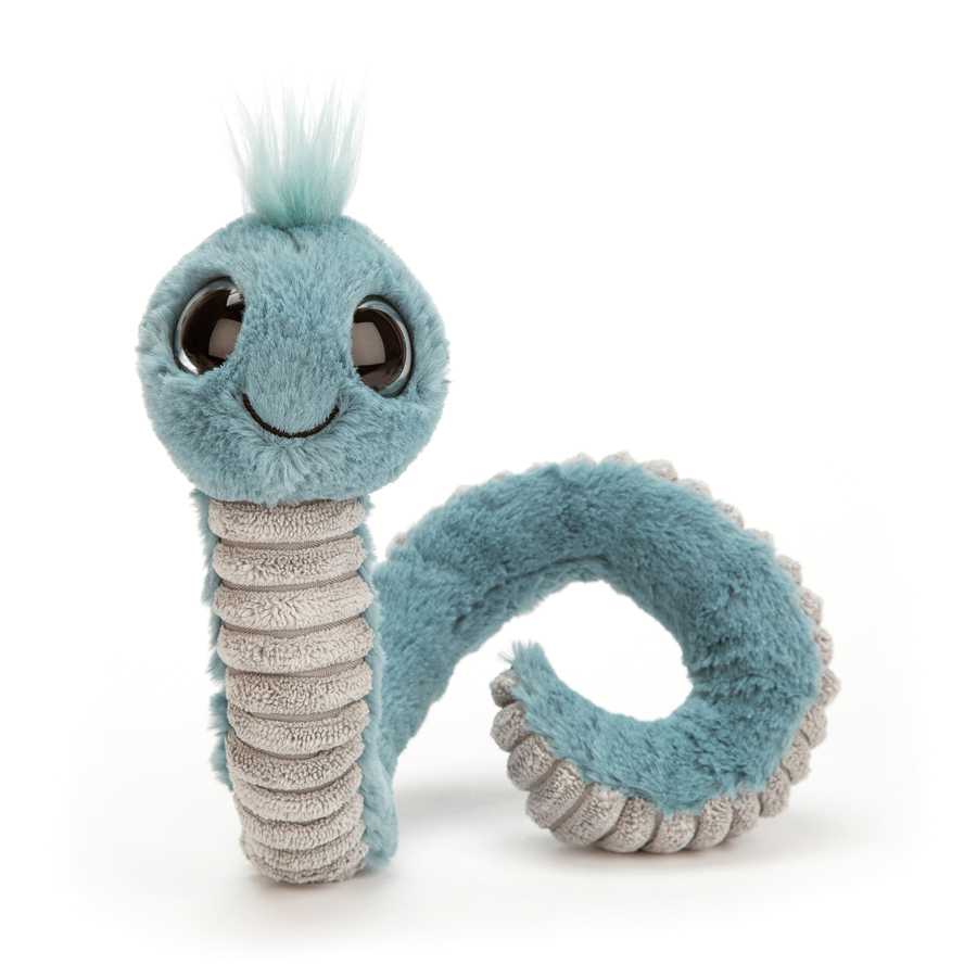 Jellycat Wiggly Worm Blue - 16 cm