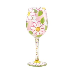 Lolita Oops I Daisied Daisy Hand Painted Wine Glass
