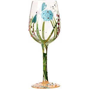 Lolita Dragonfly Hand Painted Wine Glass