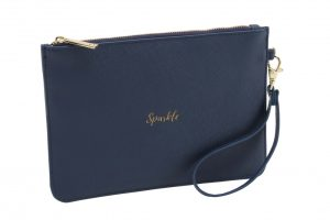 Sparkle Navy Blue Beauty Bag - Willow & Rose