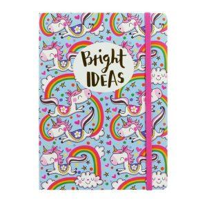 Bright Ideas Unicorns A5 Notebook – Rachel Ellen Designs