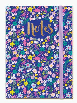 Navy Floral A6 Notebook - Rachel Ellen Designs