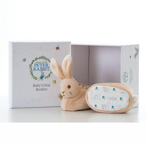 Peter Rabbit Baby Booties Gift Set - Beatrix Potter