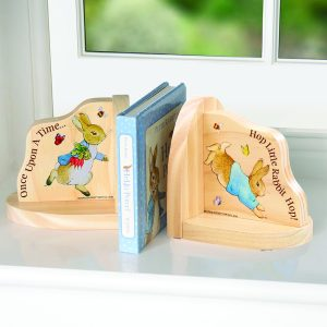 Peter Rabbit Wooden Bookends - Beatrix Potter