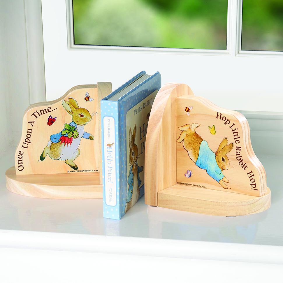 Peter Rabbit Wooden Bookends - Beatrix Potter