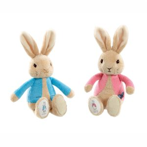 Peter Rabbit and Flopsy Bean Rattle Toys - Beatrix Potter