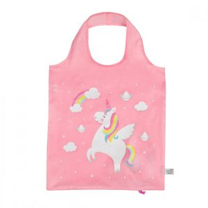 Rainbow Unicorn Raindrop Foldable Shopping Bag - Sass and Belle