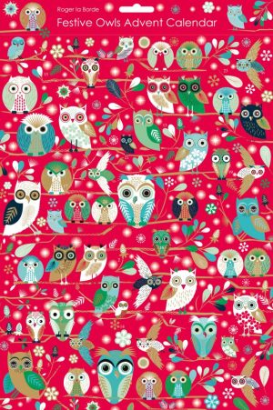 Festive Owls Christmas Advent Calendar - Roger La Borde