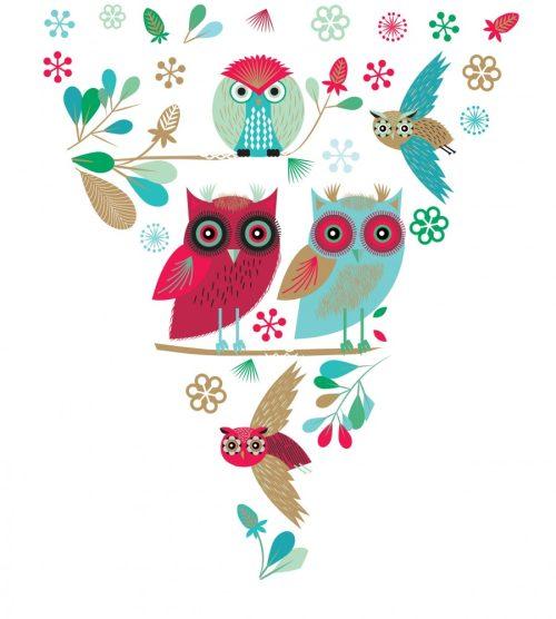 Festive Owls Christmas Bunting - Roger La Borde
