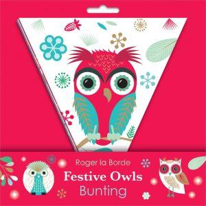Festive Owls Christmas Bunting – Roger La Borde