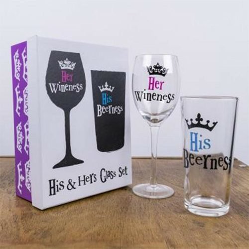 The Bright Side His and Hers Glass Set