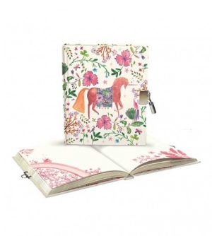 Over The Rainbow Lockable Notebook - Unicorn - Roger La Borde