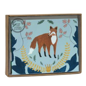 Fox and Hare Luxury Notecard Box - Roger La Borde